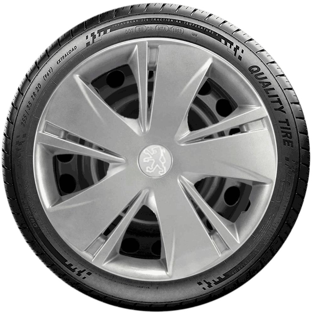 Calota Jogo 4Pçs Peugeot 206 207 208 307 Aro 14 G451J