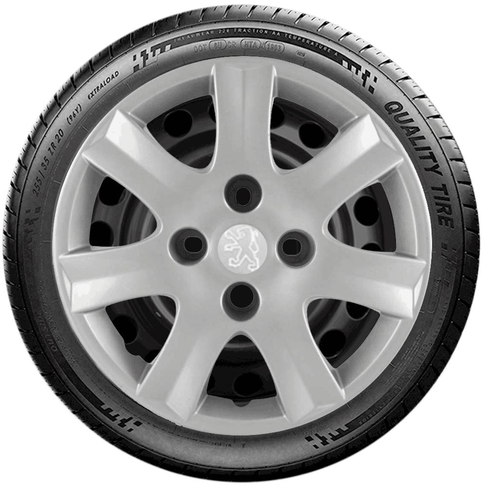 Calota Jogo 4Pçs Peugeot 206 207 208 307 Aro 14 G867J