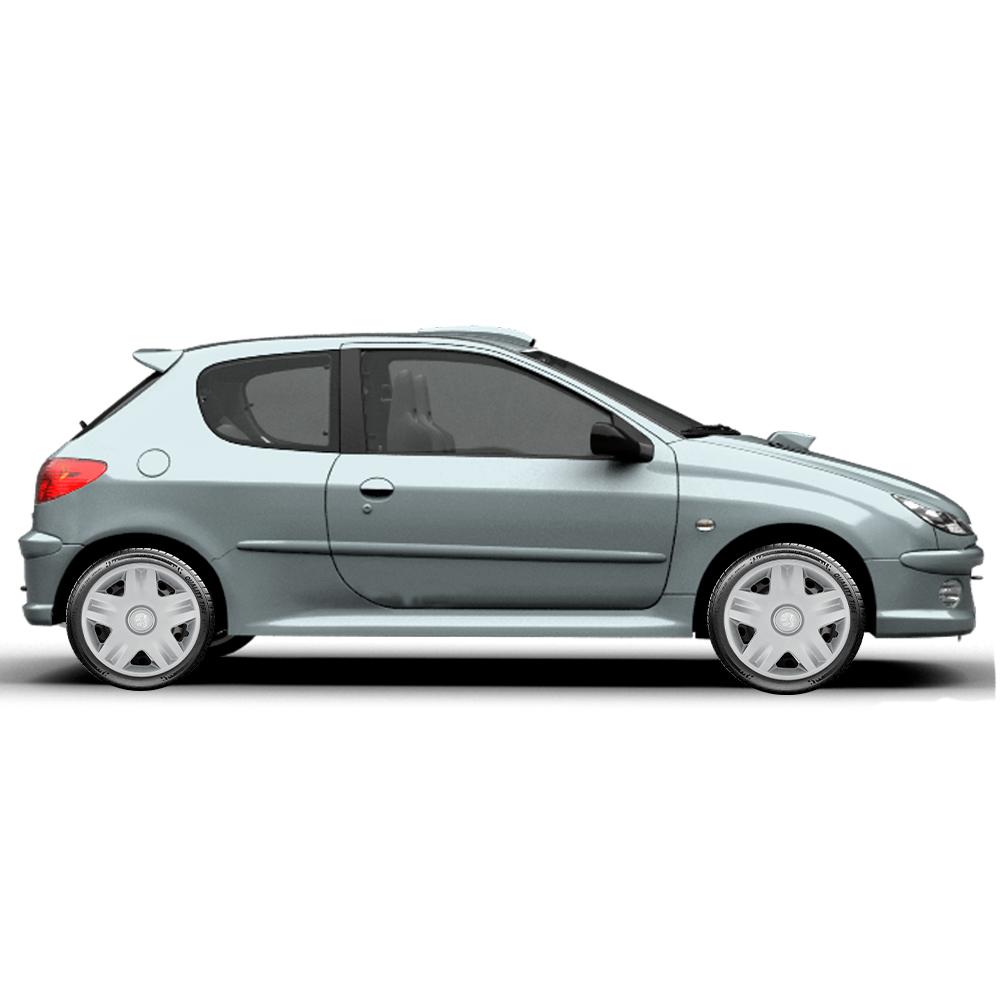 Calota Jogo 4Pçs Peugeot 206 207 208 307 Aro 14 G871J