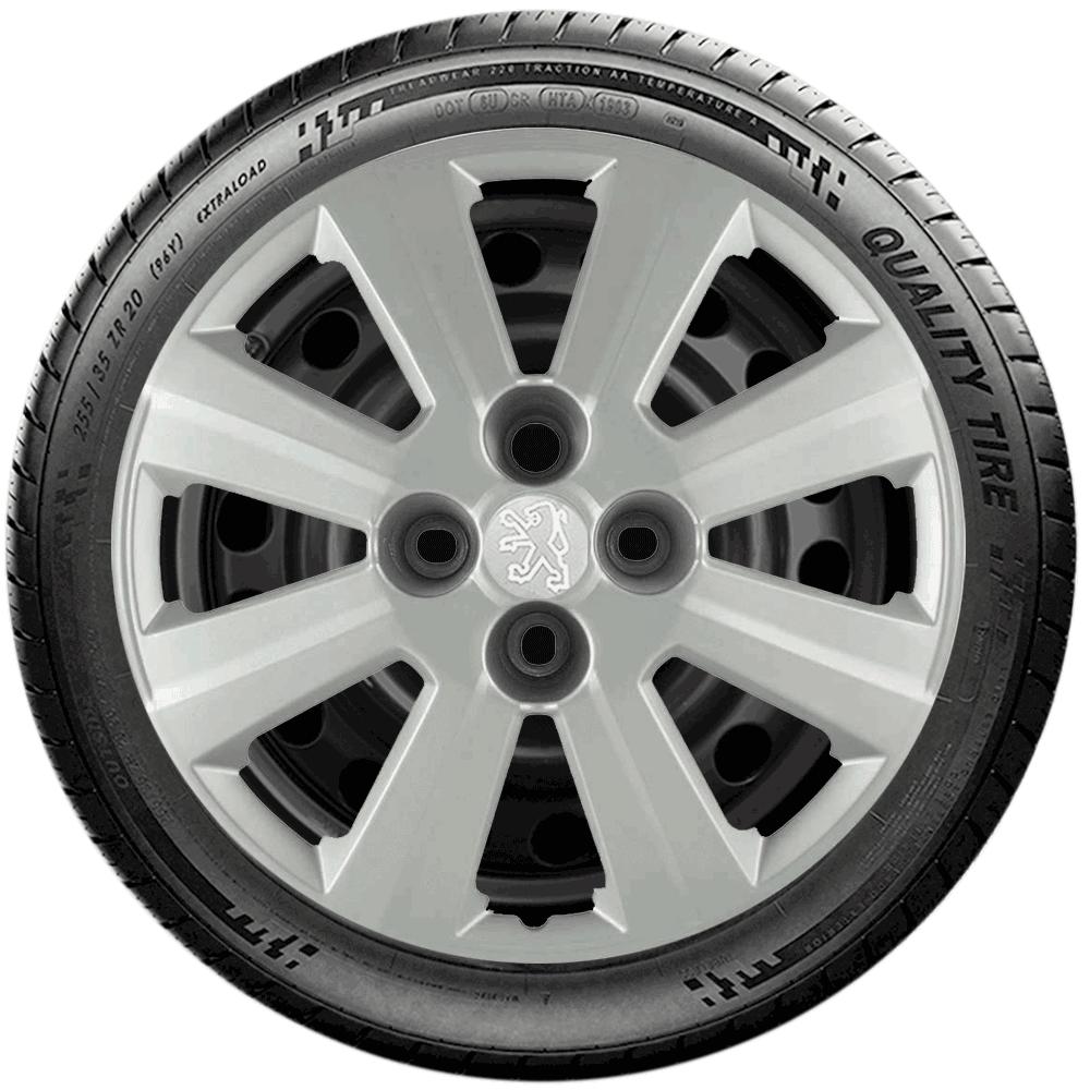 Calota Jogo 4Pçs Peugeot 206 207 208 307 Aro 15 G030J