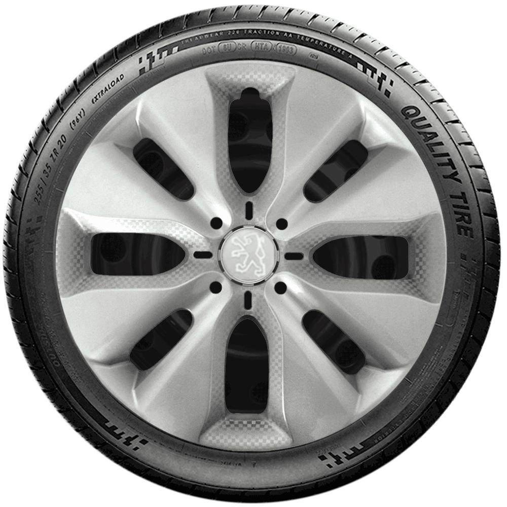 Calota Jogo 4Pçs Peugeot 206 207 208 307 Aro 15 G130J