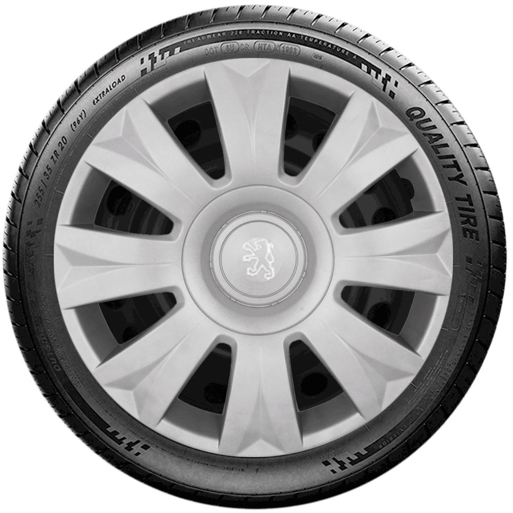 Calota Jogo 4Pçs Peugeot 206 207 208 307 Aro 15 G169J