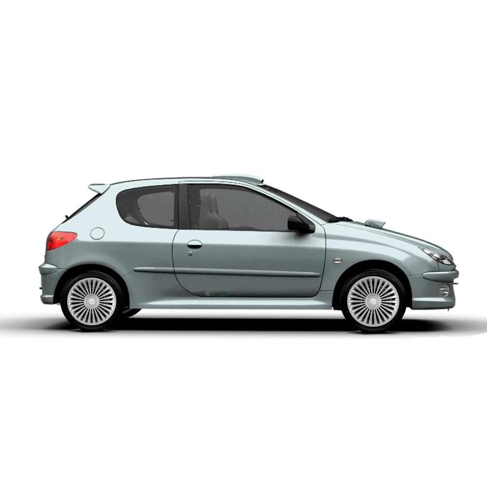 Calota Jogo 4Pçs Peugeot 206 207 208 307 Aro 15 G171J