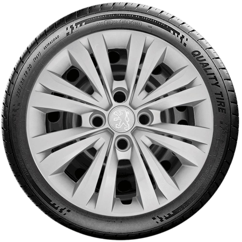 Calota Jogo 4Pçs Peugeot 206 207 208 307 Aro 15 G246J