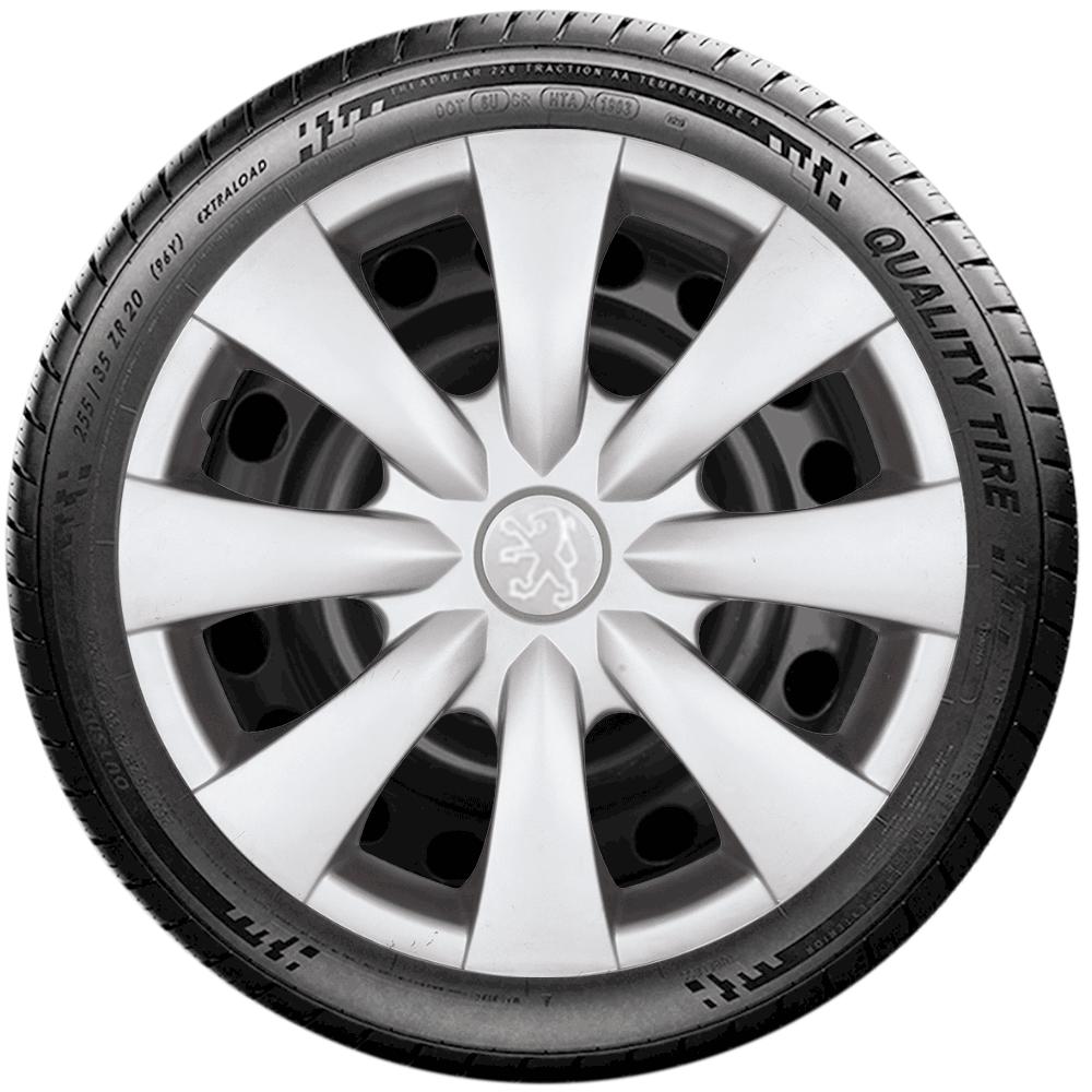 Calota Jogo 4Pçs Peugeot 206 207 208 307 Aro 15 G460J