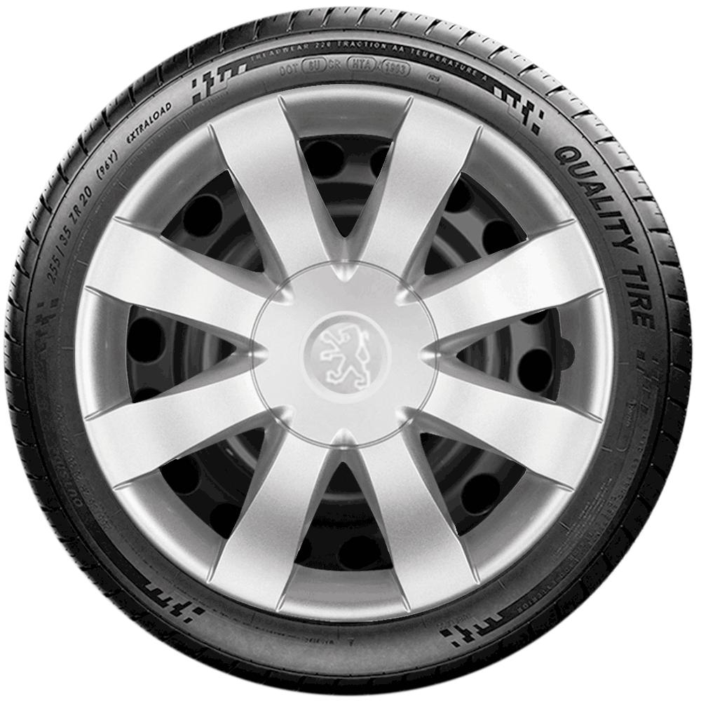 Calota Jogo 4Pçs Peugeot 206 207 208 307 Aro 15 G875J