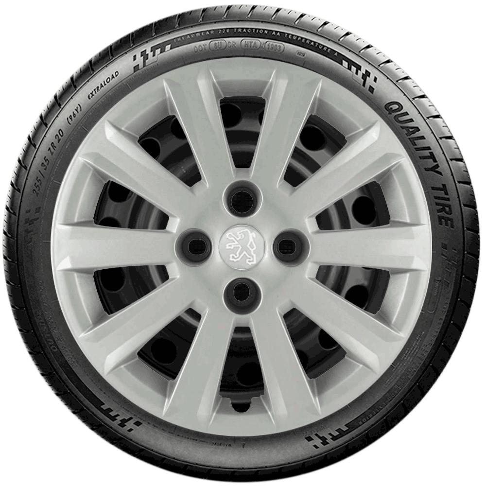 Calota Jogo 4Pçs Peugeot 207 208 208 Aro 15 G018J