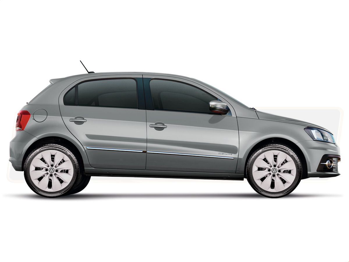 Calota  Jogo 4Pçs Prata Volkswagen Gol Voyage Saveiro Até Aro 14 G248j