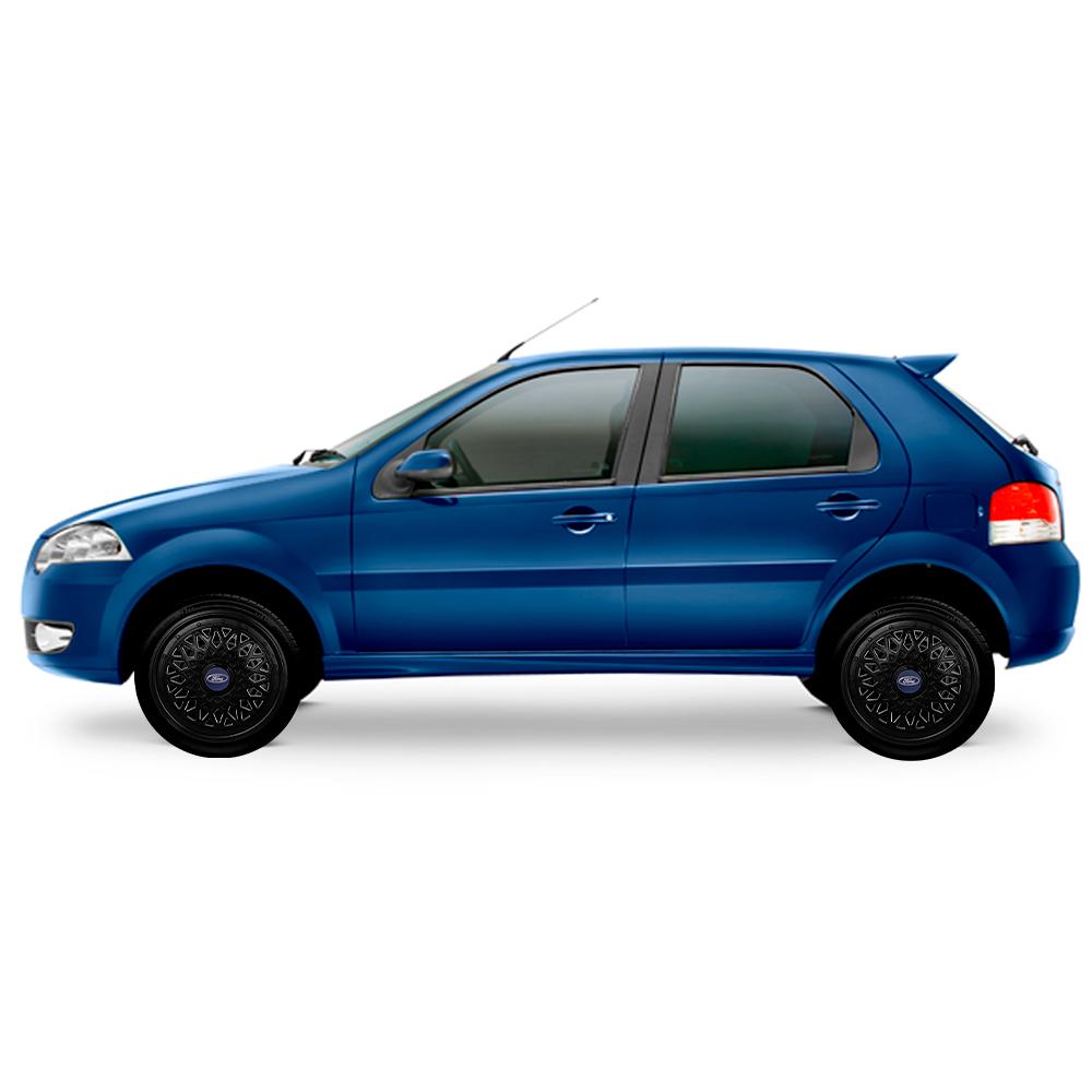 Calota Preta Jogo 4Pçs Ford Aro 13 G600Pobj