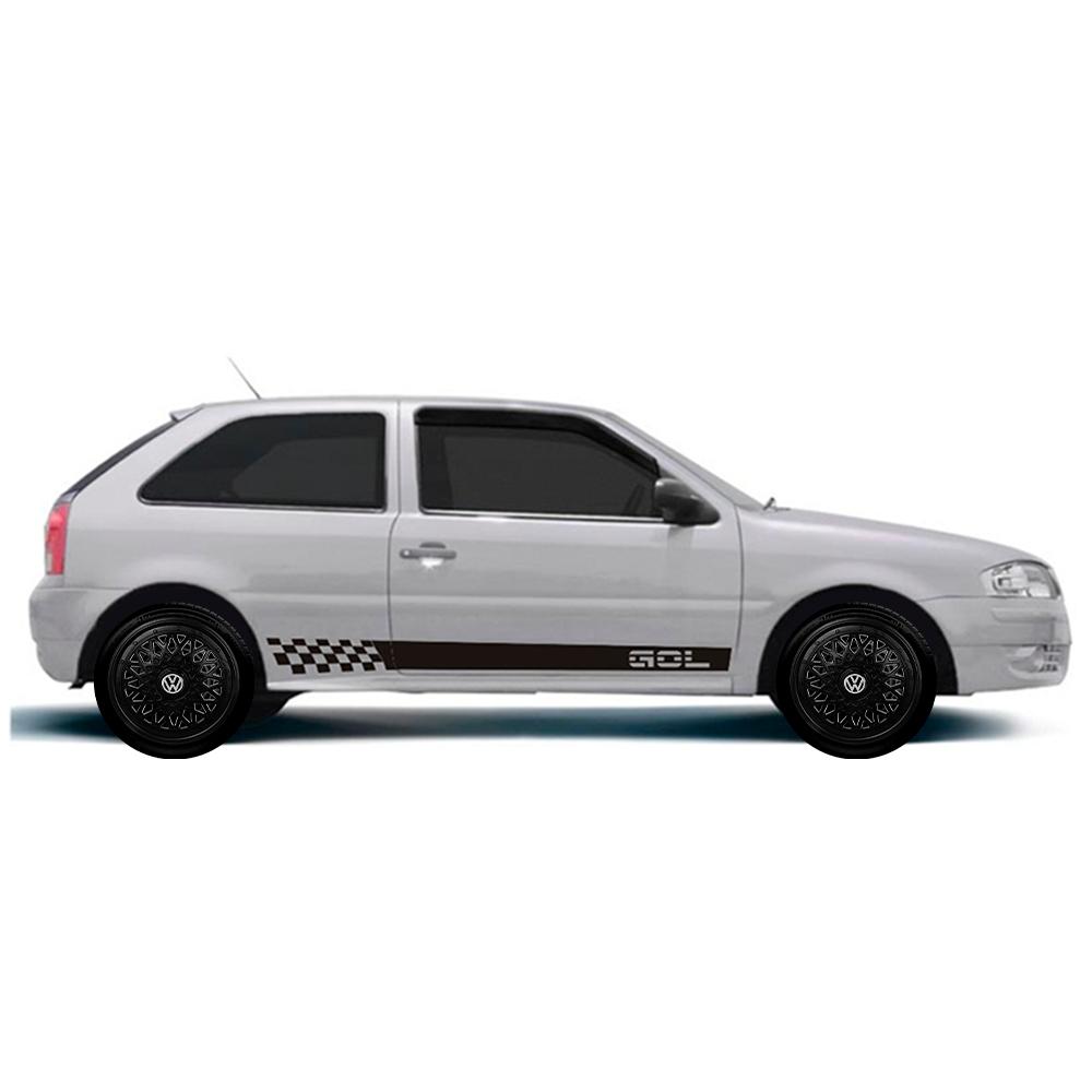 Calota Preta Jogo 4Pçs Volkswagen Aro 13 G600Pobj