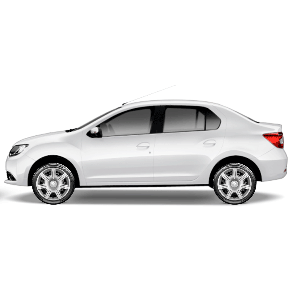 Calota Jogo 4Pçs Renault Clio Novo Sandero Logan Aro 15 G876J