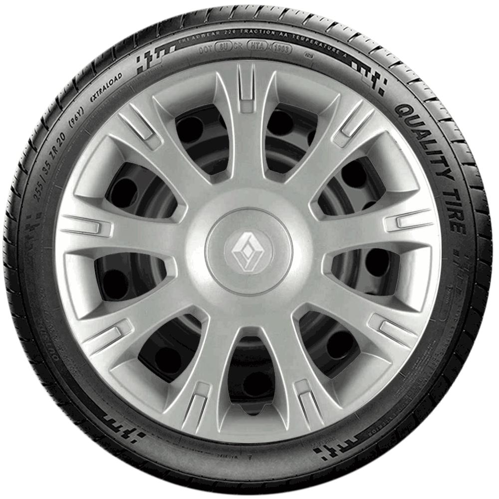 Calota Jogo 4Pçs Renault Clio Sandero Logan Aro 14 G086J