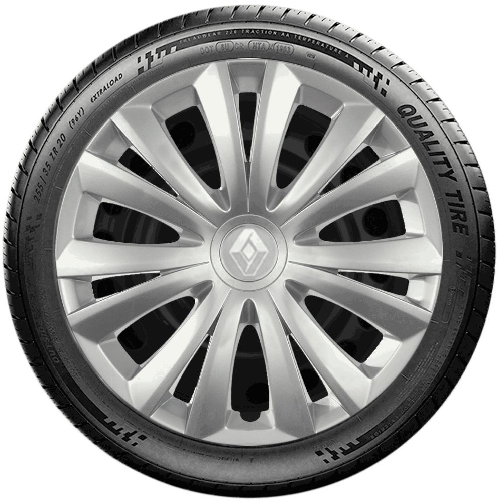Calota Jogo 4Pçs Renault Clio Sandero Logan Aro 14 G136J