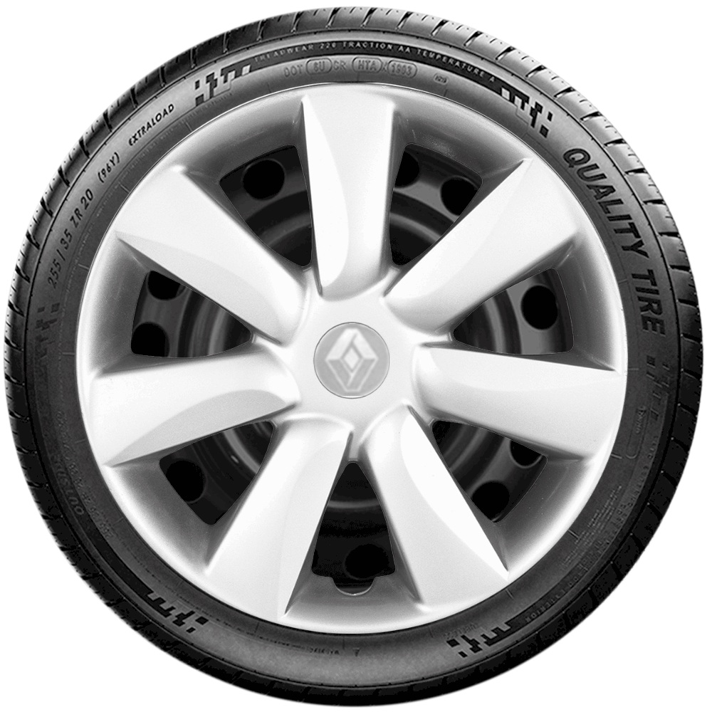 Calota Jogo 4Pçs Renault Clio Sandero Logan Aro 14 G450J