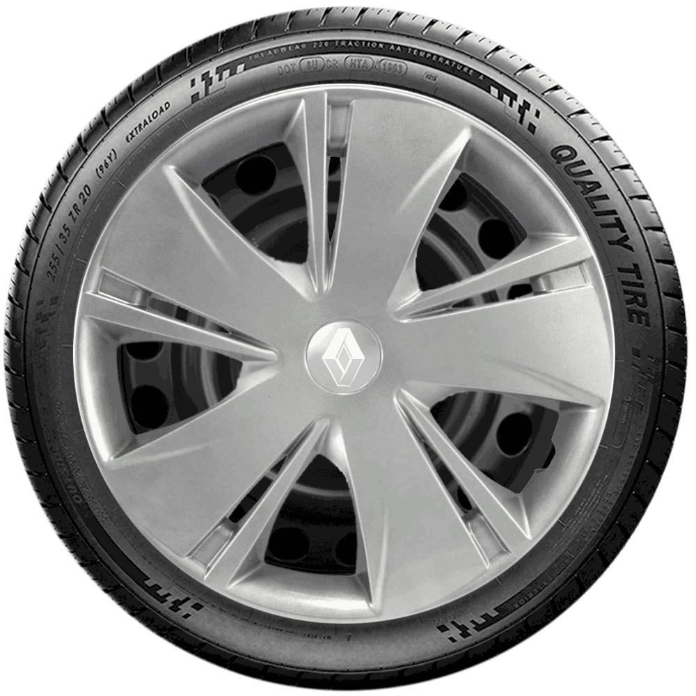 Calota Jogo 4Pçs Renault Clio Sandero Logan Aro 14 G451J
