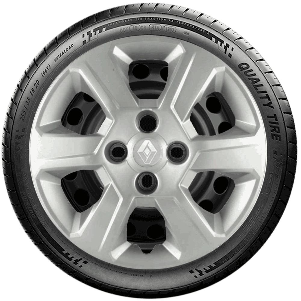 Calota Jogo 4Pçs Renault Clio Sandero Logan Aro 15 G084J