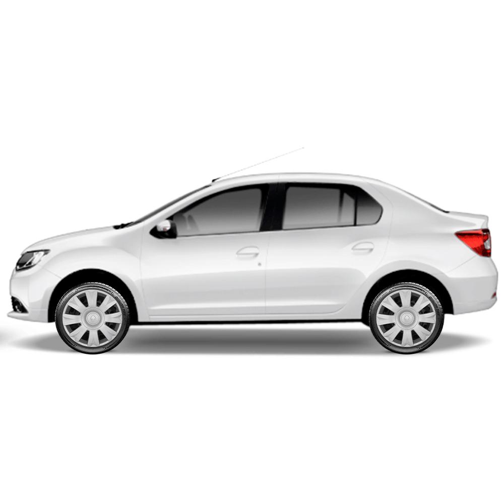 Calota Jogo 4Pçs Renault Clio Sandero Logan Aro 15 G169J