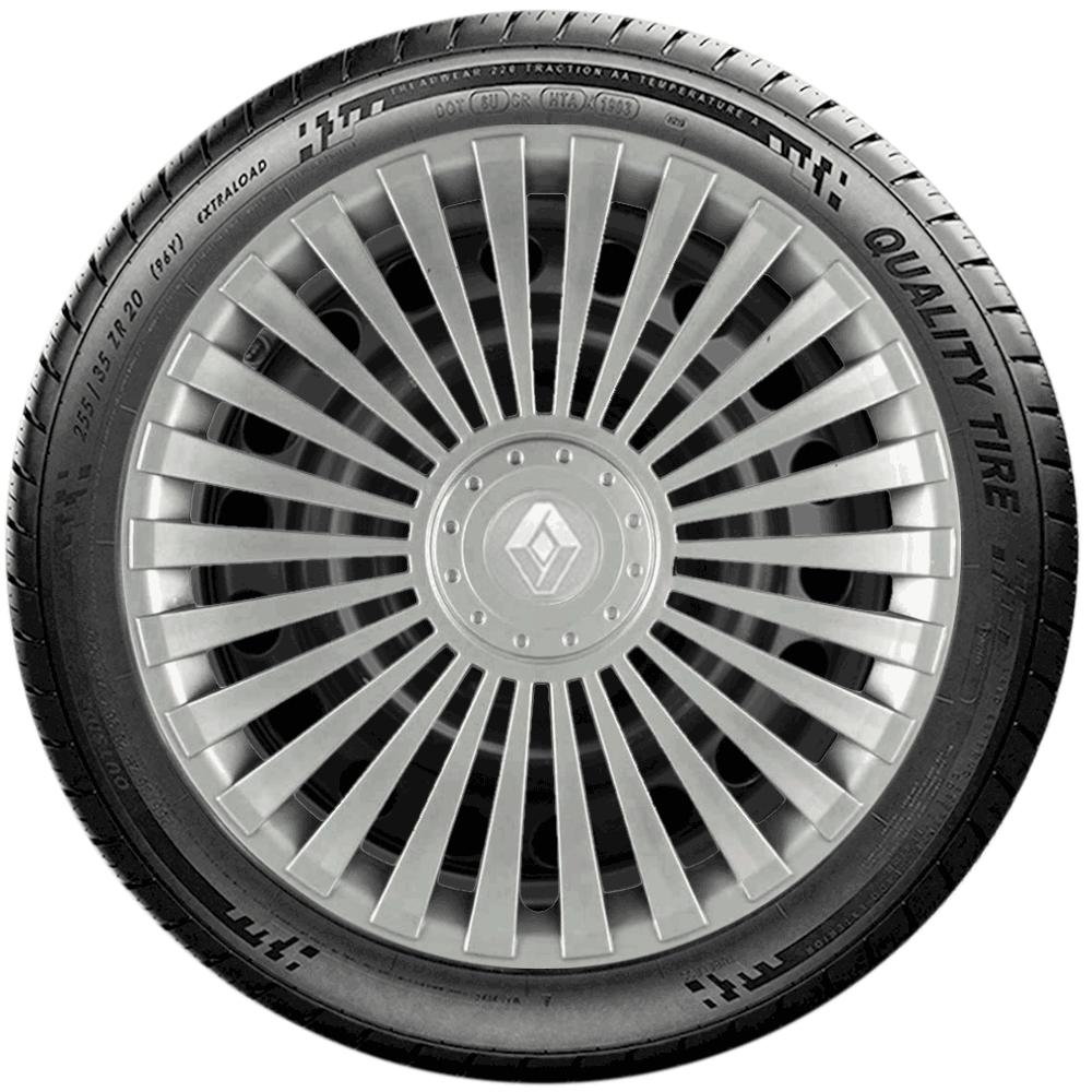 Calota Jogo 4Pçs Renault Clio Sandero Logan Aro 15 G171J