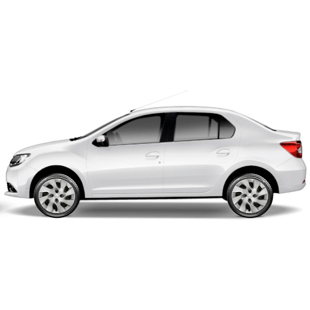 Calota Jogo 4Pçs Renault Clio Sandero Logan Aro 15 G195J