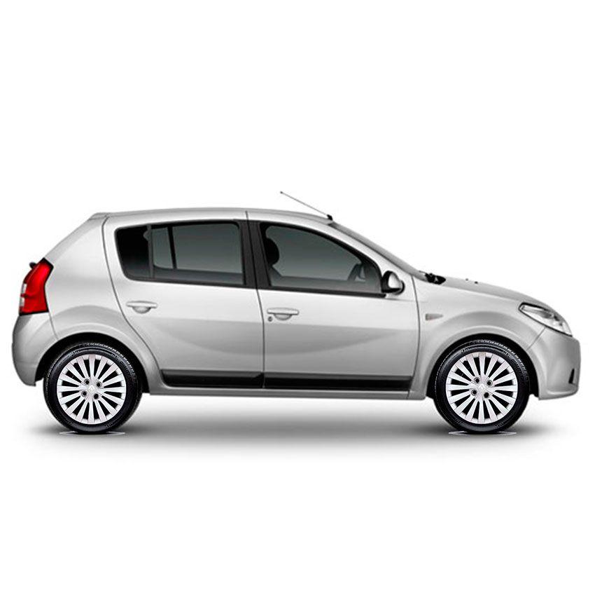 Calota Jogo 4Pçs Renault Clio Sandero Logan Aro 15 G242J
