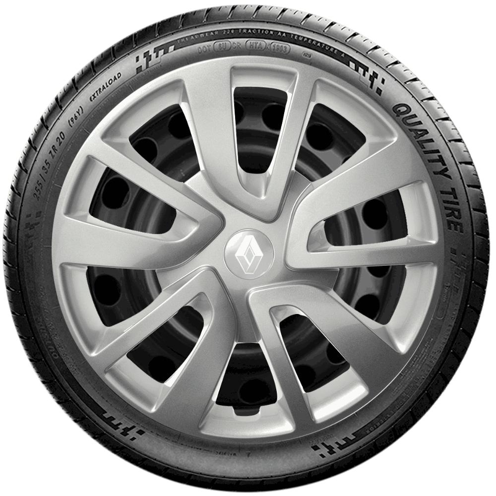 Calota Jogo 4Pçs Renault Clio Sandero Logan Aro 15 G869J