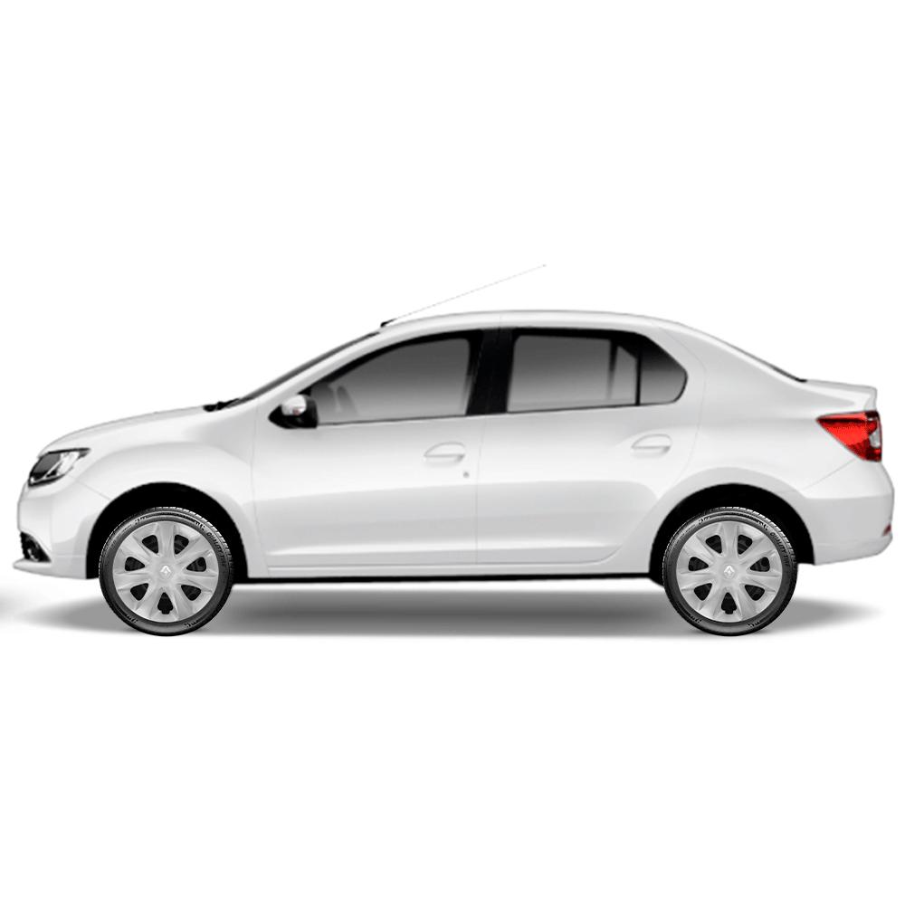 Calota Jogo 4Pçs Renault Clio Sedan Aro 13 G186J