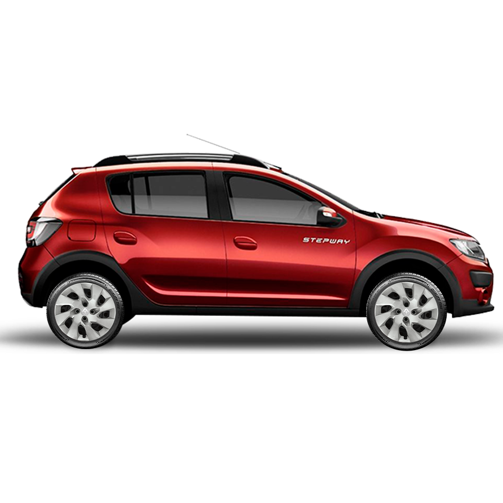Calota Jogo 4Pçs Renault Novo Clio Sandero Logan Aro 14 G133J