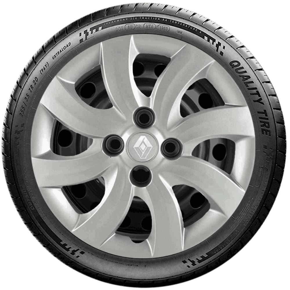 Calota Jogo 4Pçs Renault Sandero Logan Aro 14 G094J