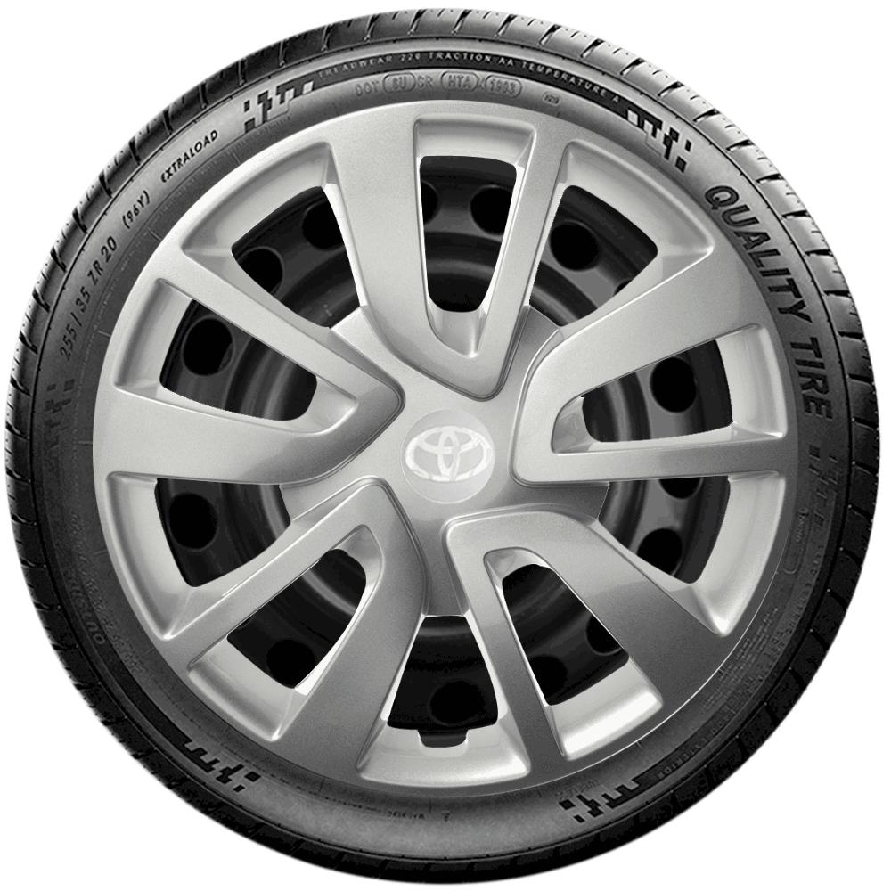 Calota Jogo 4Pçs Toyota Etios 2010 2019 Aro 14 G870J