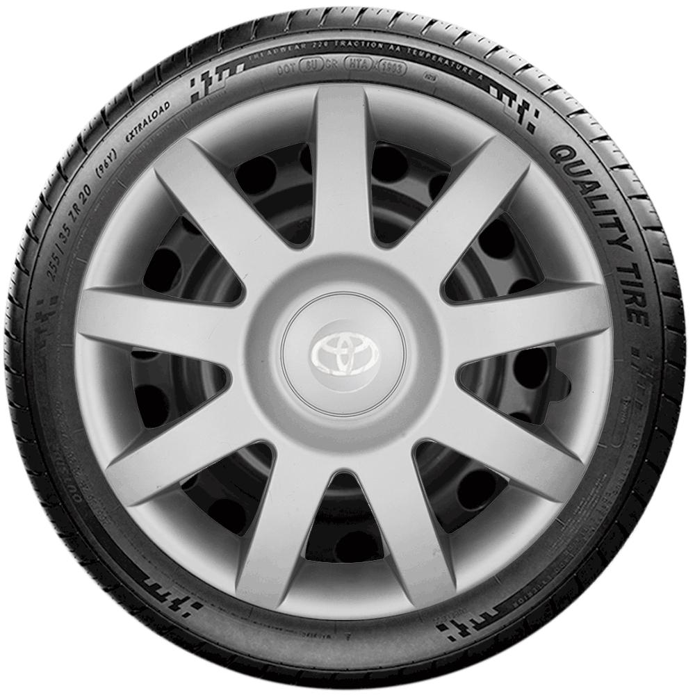 Calota Jogo 4Pçs Toyota Etios Corolla 2010 2019 Aro 14 G873J