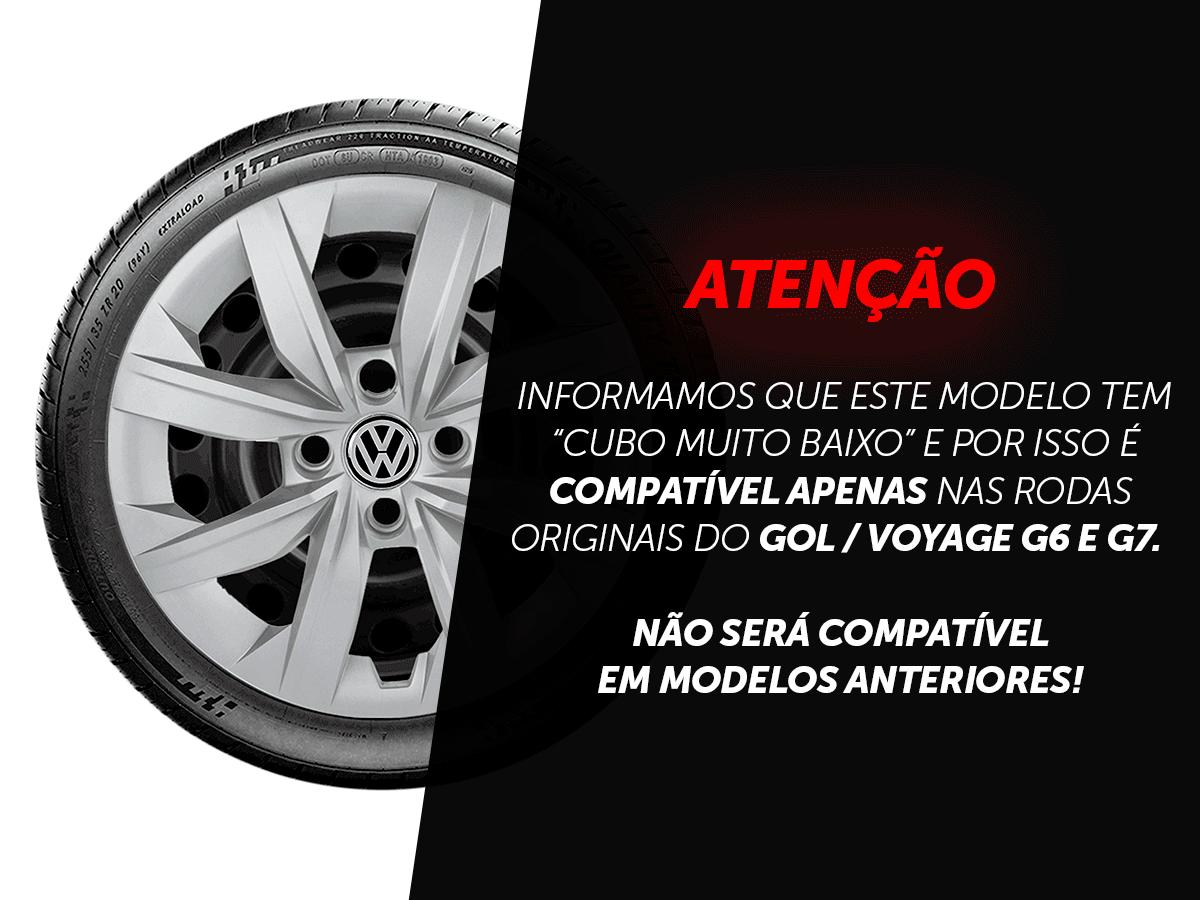 Calota Jogo 4Pçs Volkswagen Gol G7 UP 2014 A 2019 Aro 14 G249J