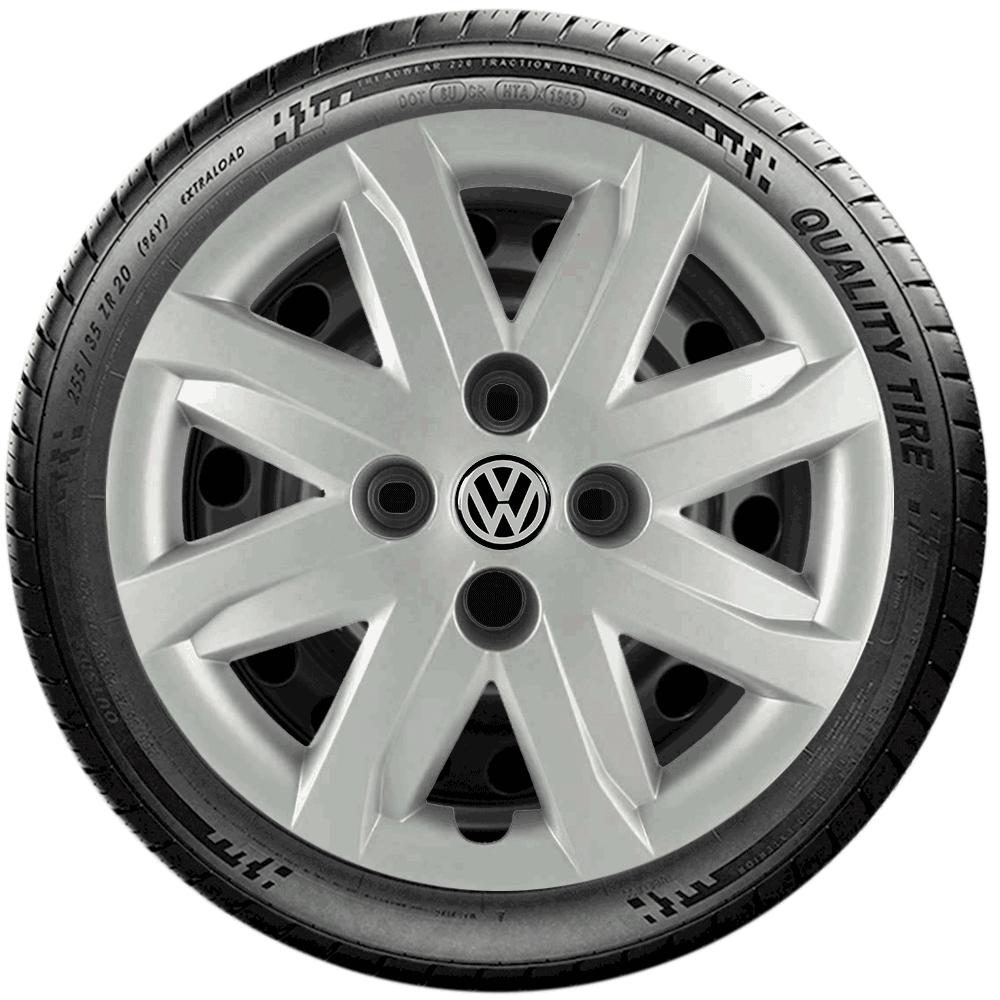 Calota Jogo 4Pçs Volkswagen Gol Saveiro Parati Aro 13 G047J
