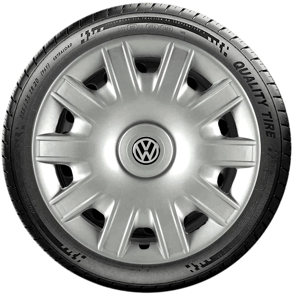 Calota Jogo 4Pçs Volkswagen Gol Saveiro Parati Fox Aro 15 G063J