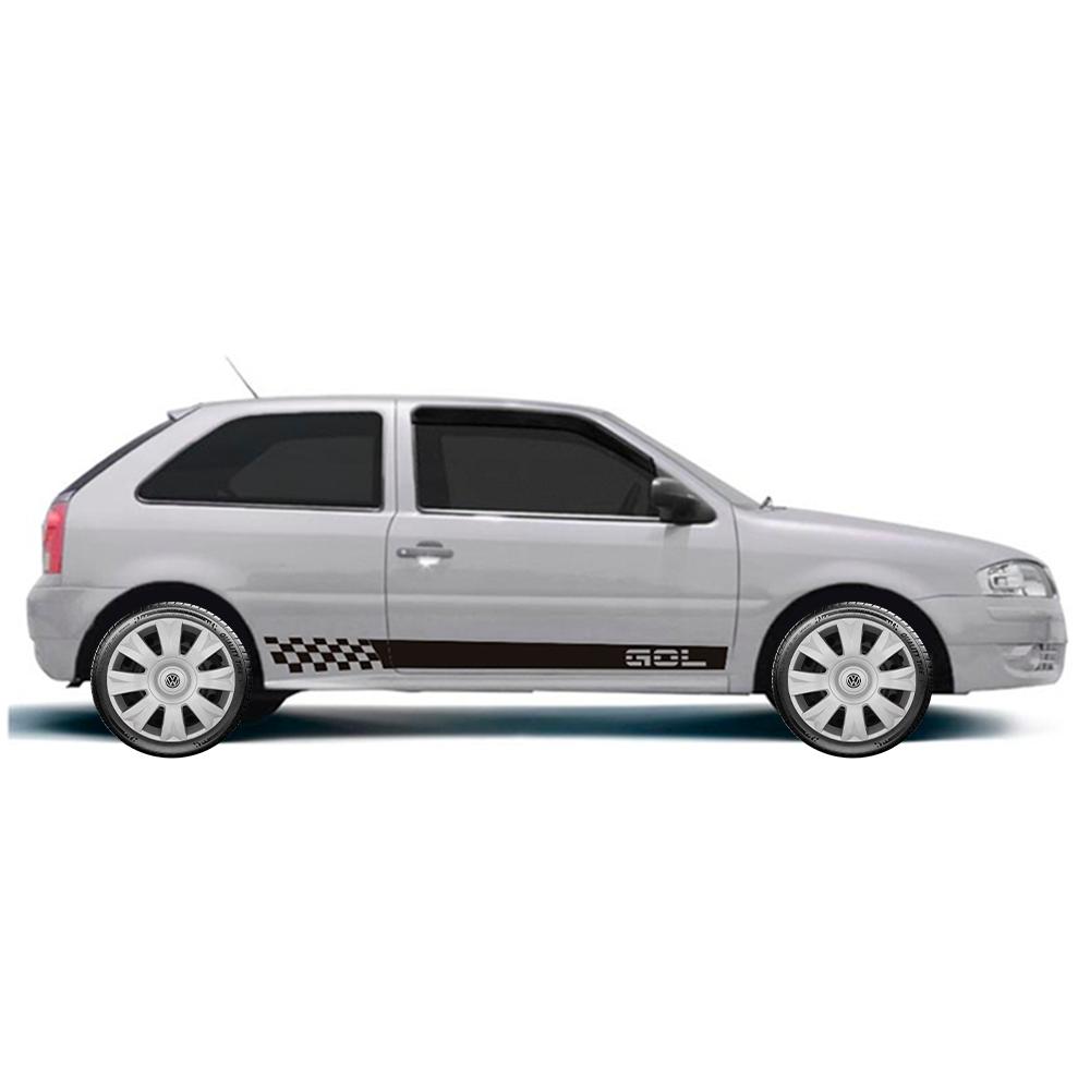 Calota Jogo 4Pçs Volkswagen Gol Saveiro Parati Voyage Aro 15 G169J