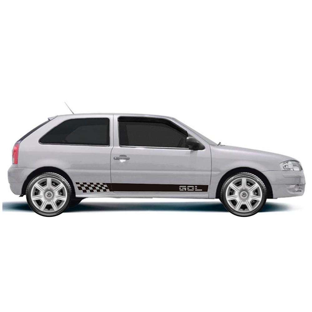 Calota Jogo 4Pçs Volkswagen Gol Saveiro Parati Voyage Aro 15 G876J