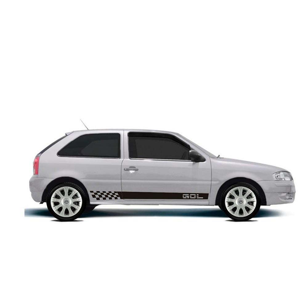 Calota Jogo 4Pçs Volkswagen Gol Voyage Gol Fox Saveiro Aro 14 G086J