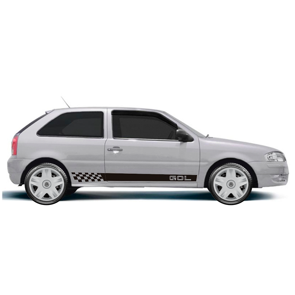 Calota Jogo 4Pçs Volkswagen Gol Voyage Gol G5 G6 G7 Saveiro Aro 14 G871J