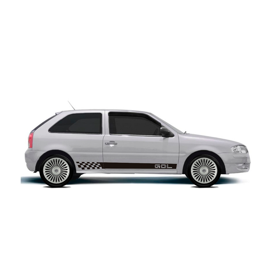 Calota Jogo 4Pçs Volkswagen Gol Voyage Gol Saveiro Aro 14 G068J