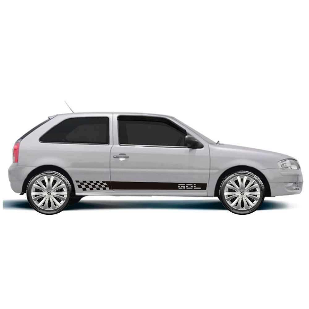 Calota Jogo 4Pçs Volkswagen Gol Voyage Gol Saveiro Aro 14 G136J