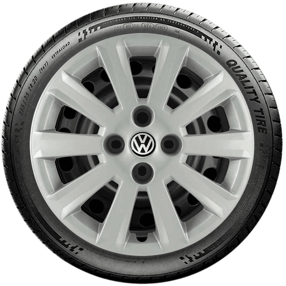 Calota Jogo 4Pçs Volkswagen Gol Voyage Saveiro Aro 15 G018J