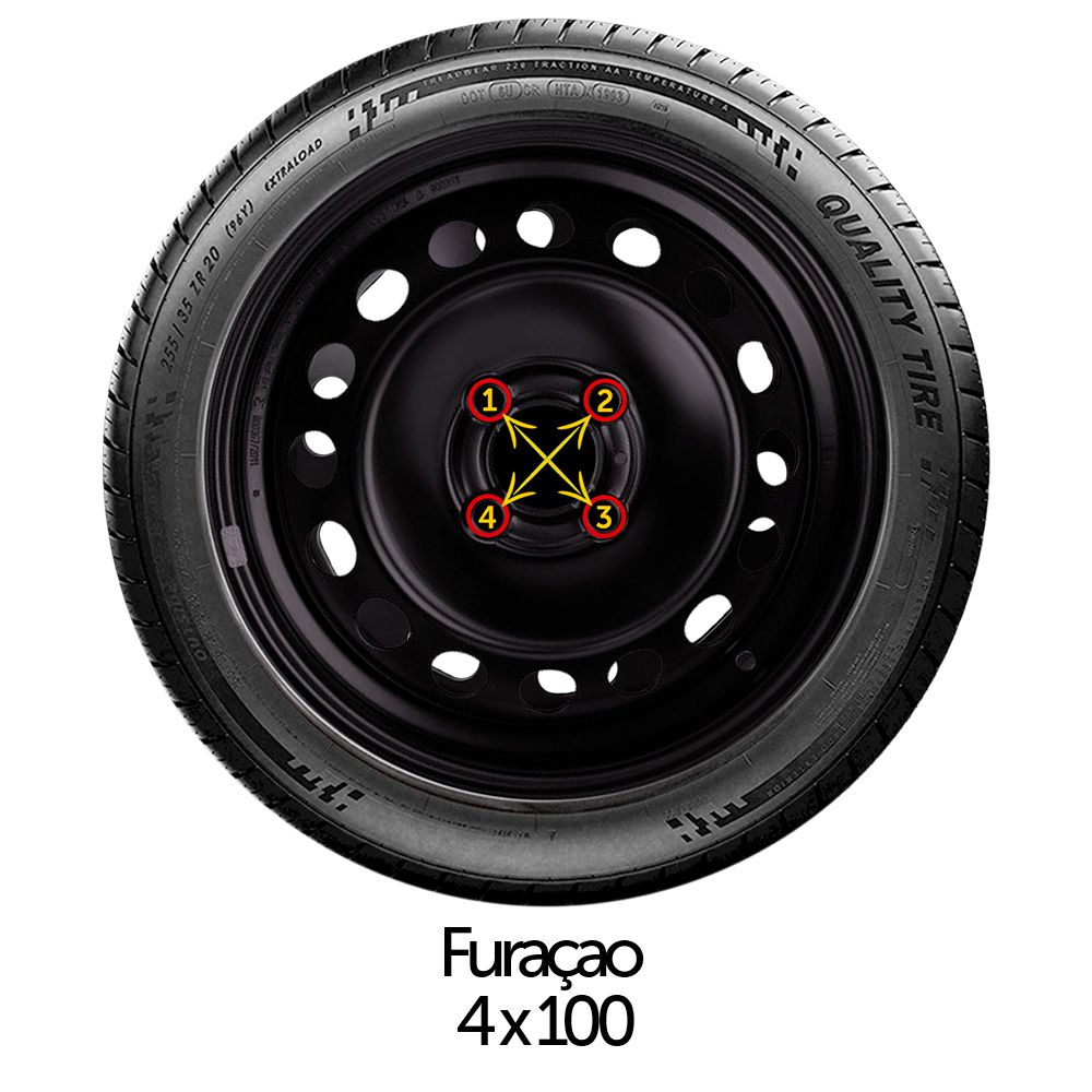 Calota Jogo 4Pçs Volkswagen Gol Voyage Saveiro G5 G6 G7 Aro 15 G127J