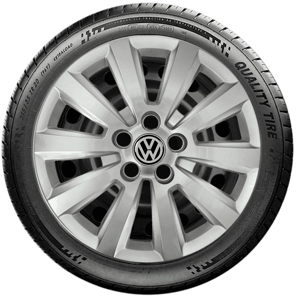 Calota Jogo 4Pçs Volkswagen Golf Polo Fox Space Fox Aro 14 G121J