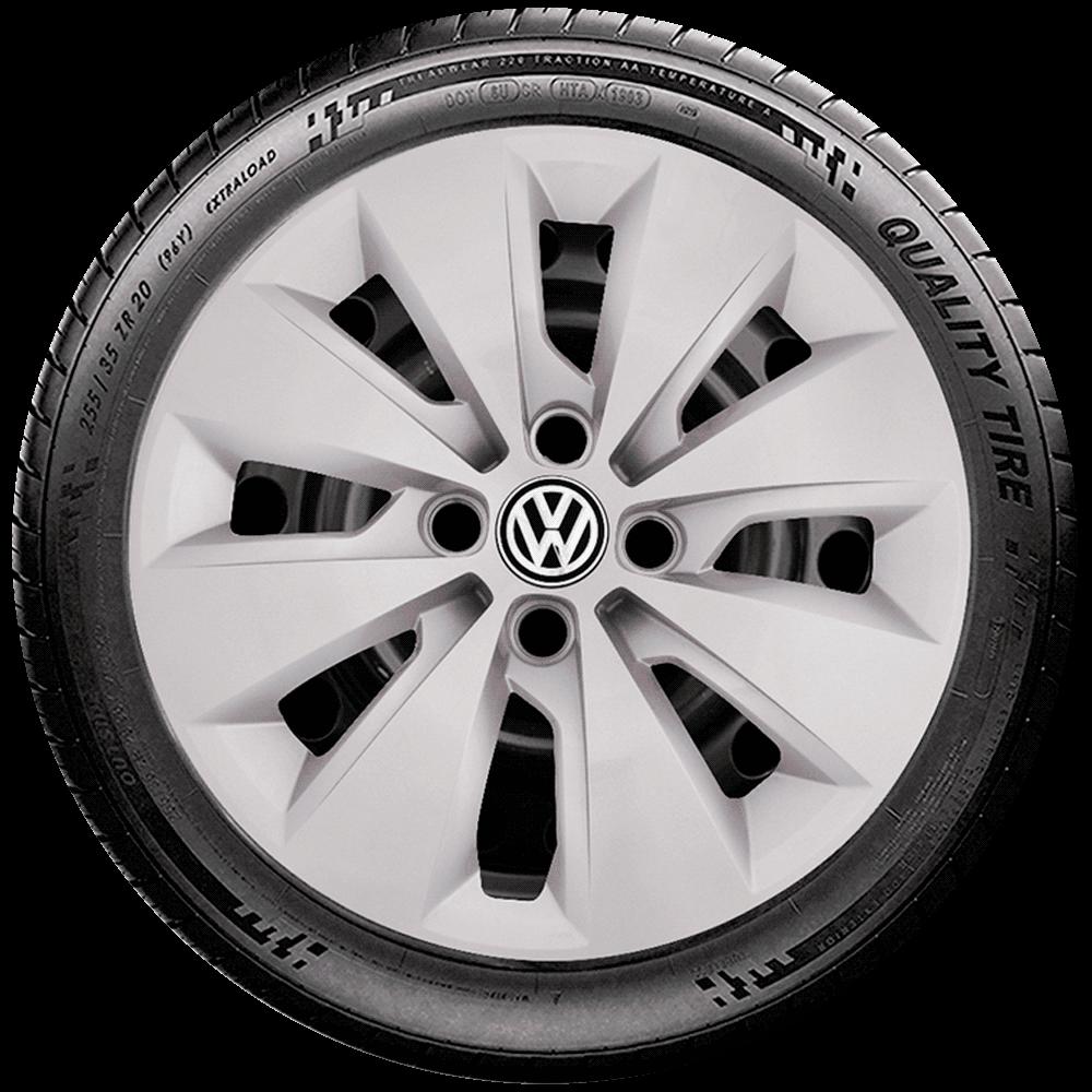 Calota Jogo 4Pçs Volkswagen Saveiro Gol Até G5 Aro 15 G248J