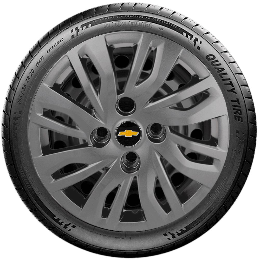 Calota Grafite Aro 14 Chevrolet Onix 2014 A 2019 G344Gft