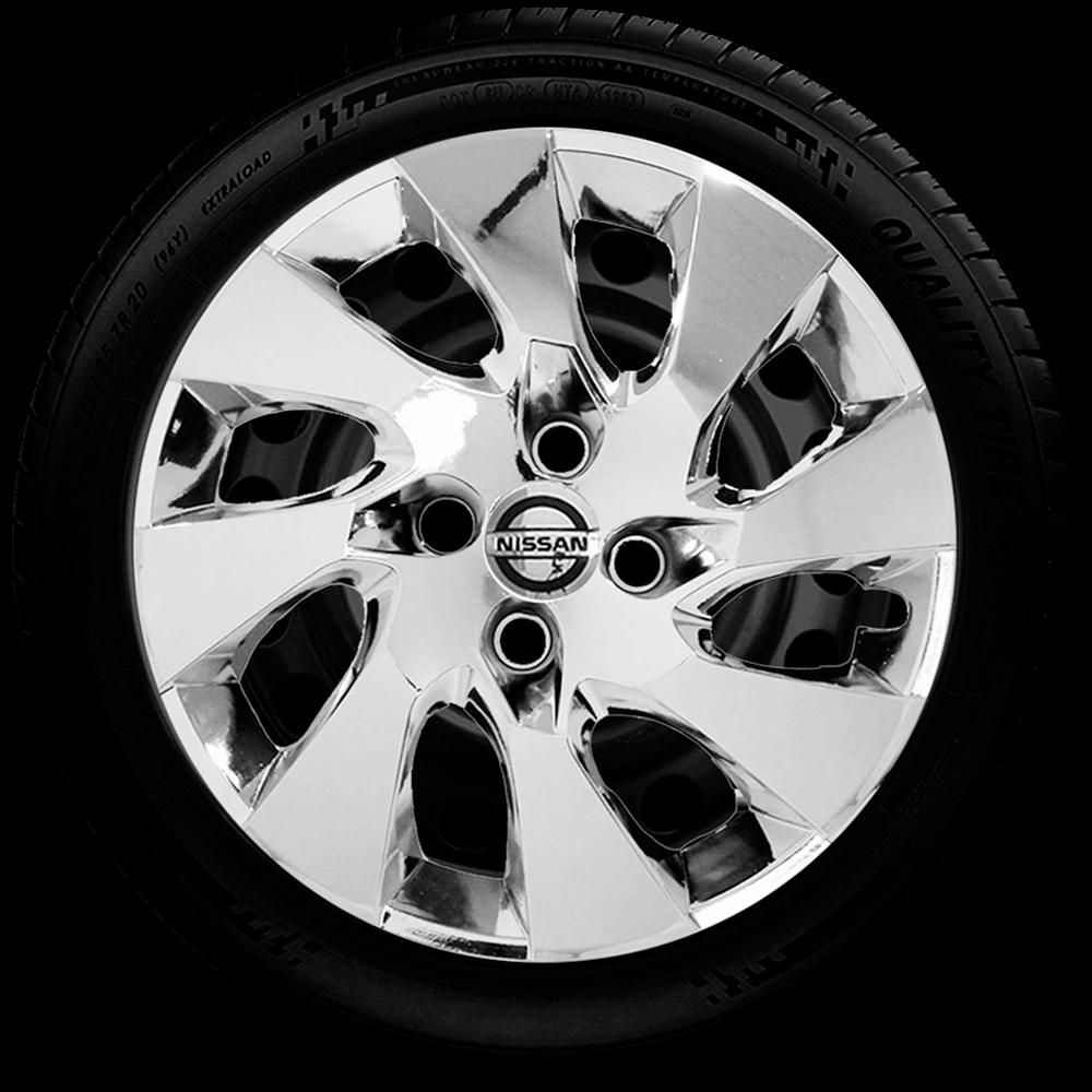 Calota Cromada Aro 14 Nissan March Versa G133Chr