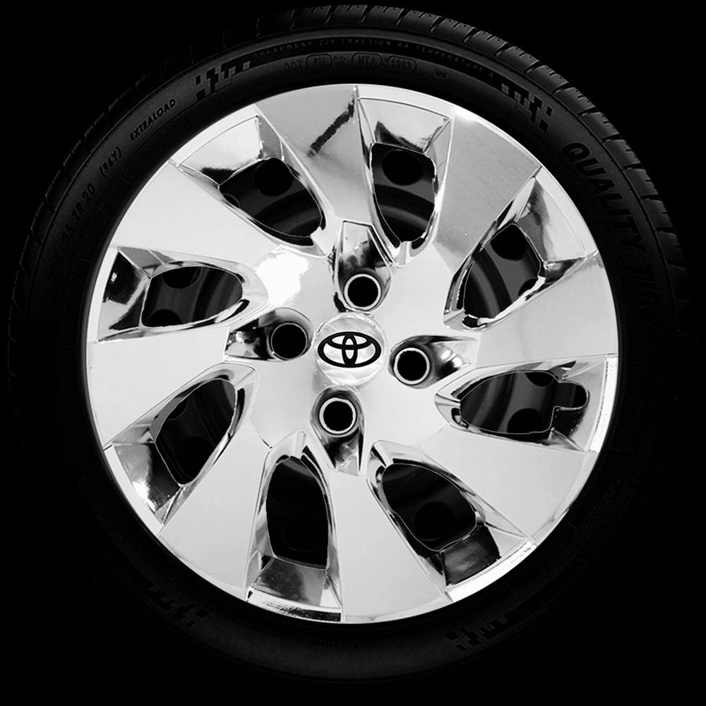 Calota Cromada Aro 14 Toyota Erios Corolla G133Chr