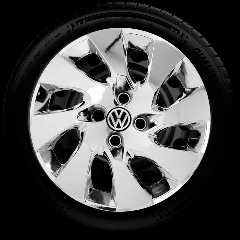Calota Cromada Aro 14 Volkswagen Voyage Parati Saveiro Gol G133Chr