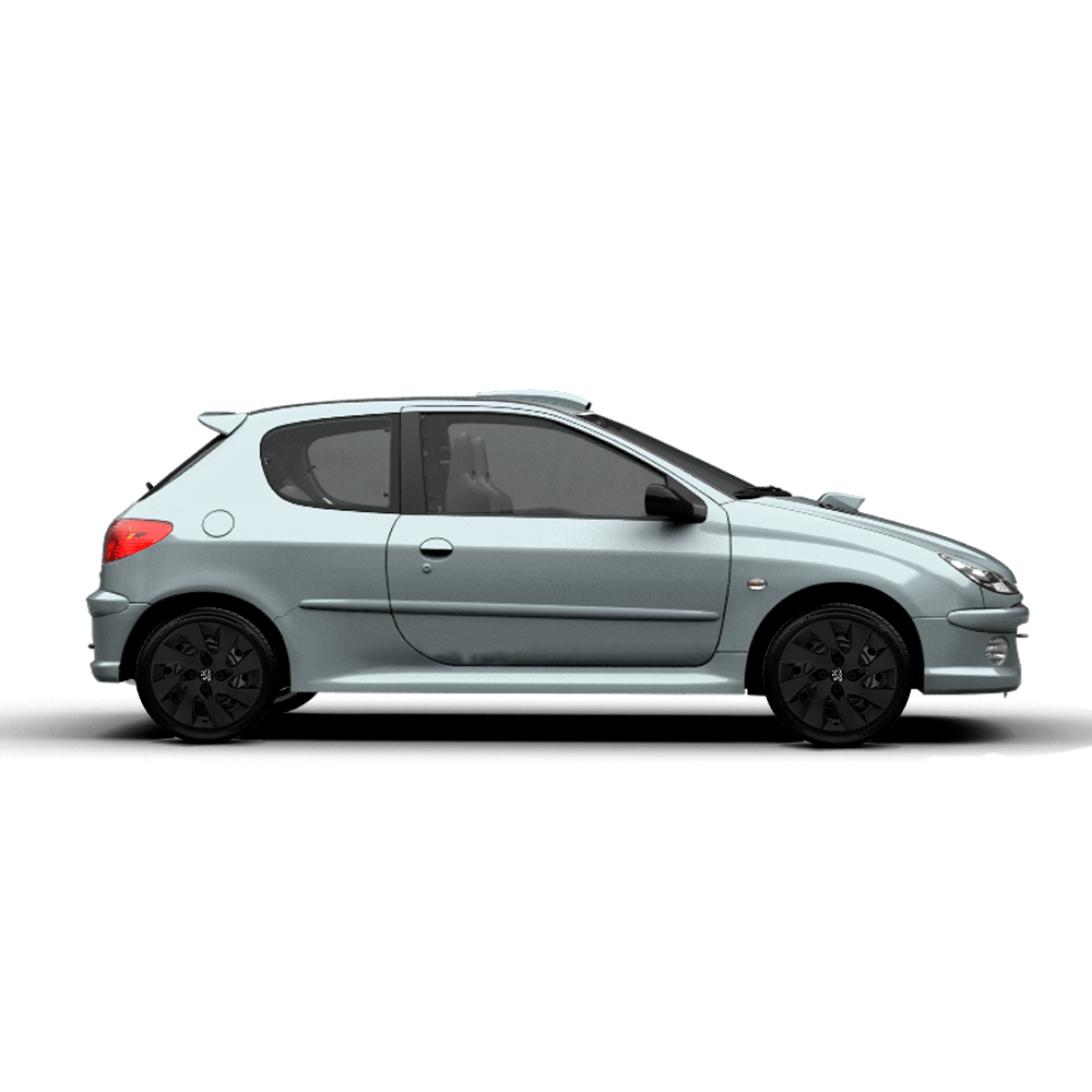 Calota Preto Fosco Aro 15 Peugeot 206 207 208 307 G195Pf
