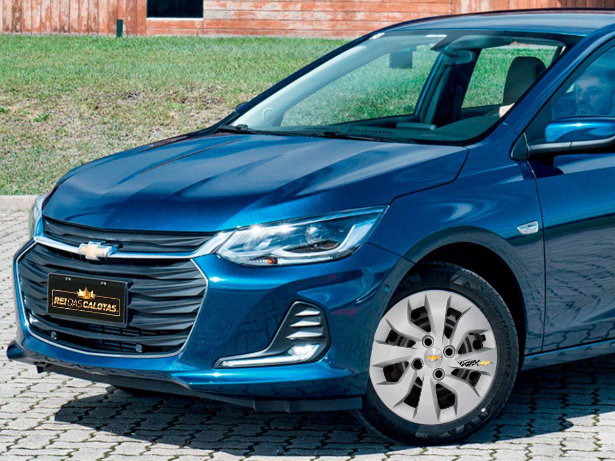 Calota Personalizada Jogo 4Pçs Novo Chevrolet Prisma Onix Plus 2019 2020  Aro 14 G373J