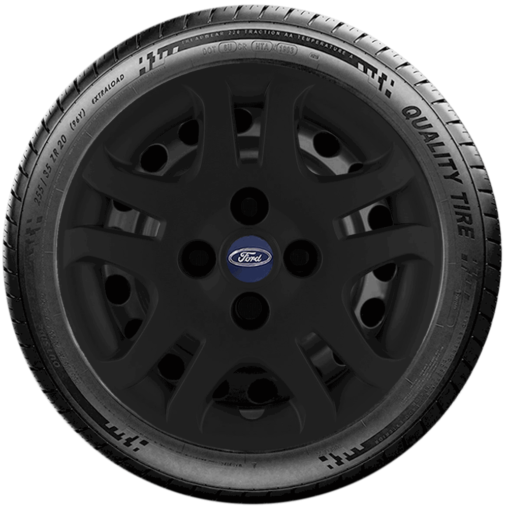Calota Preto Fosco Aro 14 Ford Fiesta Focus Ká G026Pf